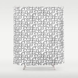 Cute ghosts Shower Curtain