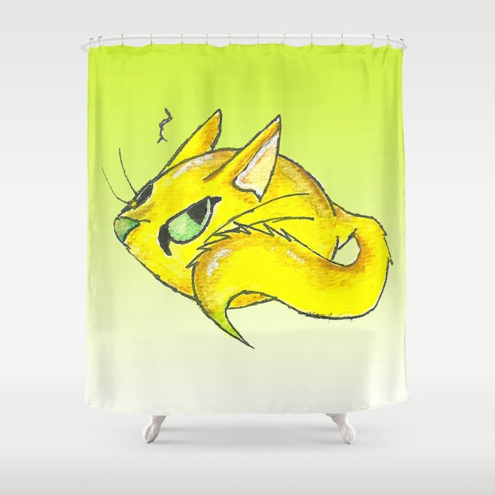 Sourpuss Shower Curtain By Kristenokeefeart