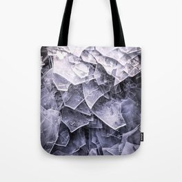 Cracked Ice Tiles In Lake Shore #decor #buyart #society6 Tote Bag