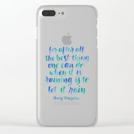 Let It Rain Clear iPhone Case