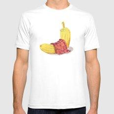 Banana undercovered Mens Fitted Tee MEDIUM White