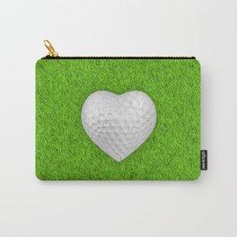 Golf ball heart / 3D render of heart shaped golf ball Carry-All Pouch