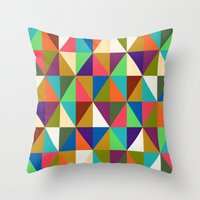 woody Throw Pillows featuring Woody by Bianca Green