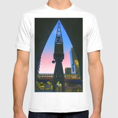 Crane Docklands London MEDIUM White Mens Fitted Tee