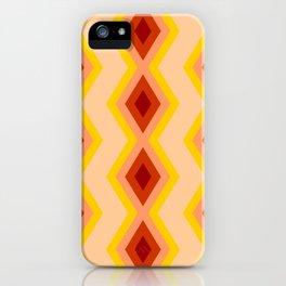 Geometric triangles orange shades pattern iPhone Case