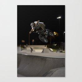 BMX skatepark night  Canvas Print