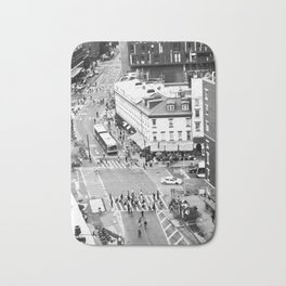 Street people in New York Bath Mat