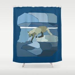 Artic Wolf Shower Curtain