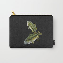 Two Largemouth Bass - Above And Below Carry-All Pouch