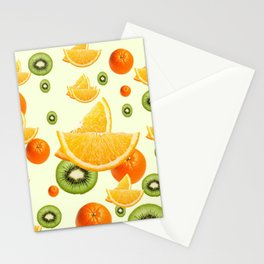 TROPICAL KIWI-ORANGES KITCHEN ART Stationery Cards