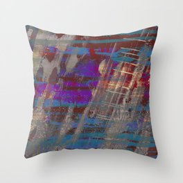 Depth - Abstract, Textured Oil Painting Throw Pillow