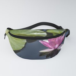 Pink Water lily at the pond Fanny Pack