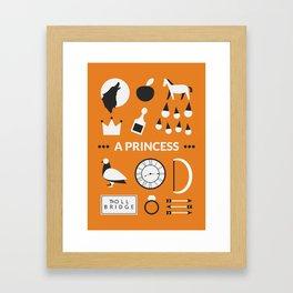 OUAT - A Princess Framed Art Print
