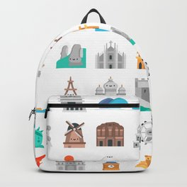 CUTE FAMOUS MONUMENTS PATTERN Backpack