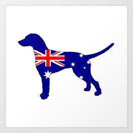 Australian Flag - Dalmatian Art Print