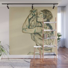 "Egon Schiele ""Female nude with raised shirt"" Wall Mural"