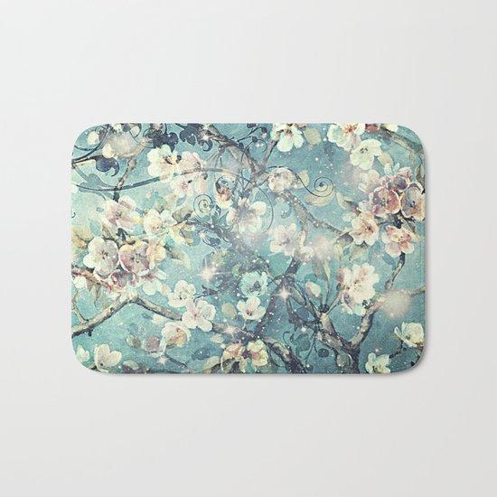 Sparkling cherry blossom tree Bath Mat