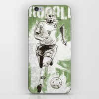 ronaldo iPhone & iPod Skins featuring Ronaldo by Renato Cunha