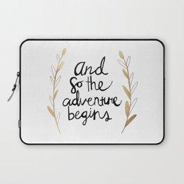 The Adventure Begins Laptop Sleeve