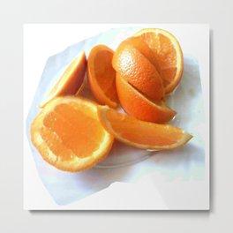 Orange Quarters Metal Print