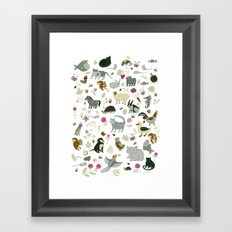 Animal Chart Framed Art Print