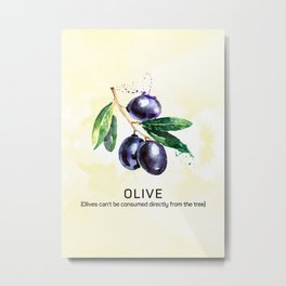 Fun with Fruits - Olive Metal Print