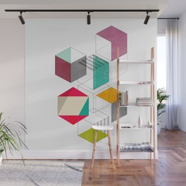 colorful cubes Wall Mural