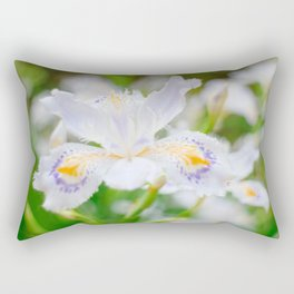 Fringed iris Rectangular Pillow