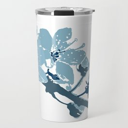 Blue Cherry Blossoms Travel Mug