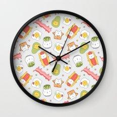 Cat food and succulent Wall Clock