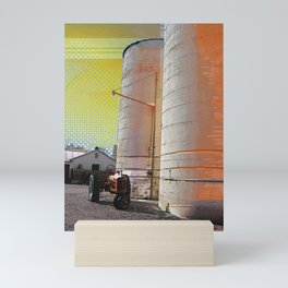 Modern photography - digital art - 'Modern Silo' - farm art, pop art, mod rural Mini Art Print