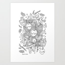 Halloween food delicious Art Print