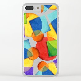 Candy Rainbow Geometric Clear iPhone Case