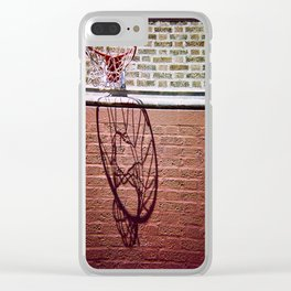The basket's shadow Clear iPhone Case
