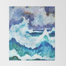 Stormy Sea Throw Blanket