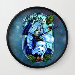 Winter Ice Queen Wall Clock