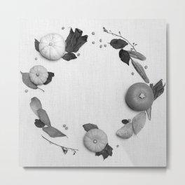 Harvest Circle (Black and White) Metal Print