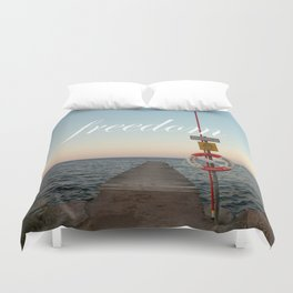 Freedom (with words) Duvet Cover
