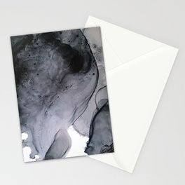 Smoke Diptych I : Alcohol Ink Painting Stationery Cards