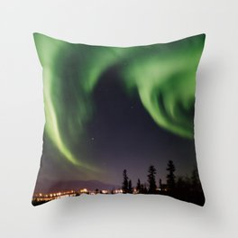 Auroras I Throw Pillow