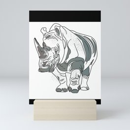 Rhino Rino Mini Art Print