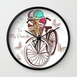 Vintage bicycle. Unbreakable romantic memories Wall Clock