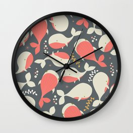 Whales 002 Wall Clock