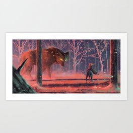 The Meeting Art Print