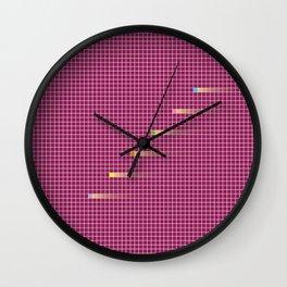 Checked Pattern_G Wall Clock