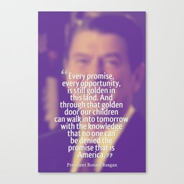 Inspirational Quotes - Motivational - 74 President Ronald Reagan Canvas Print