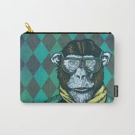 Hipster Chimp Portrait Carry-All Pouch