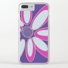 Purple Flower Clear iPhone Case