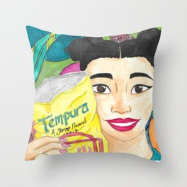 Tempura Girl Throw Pillow