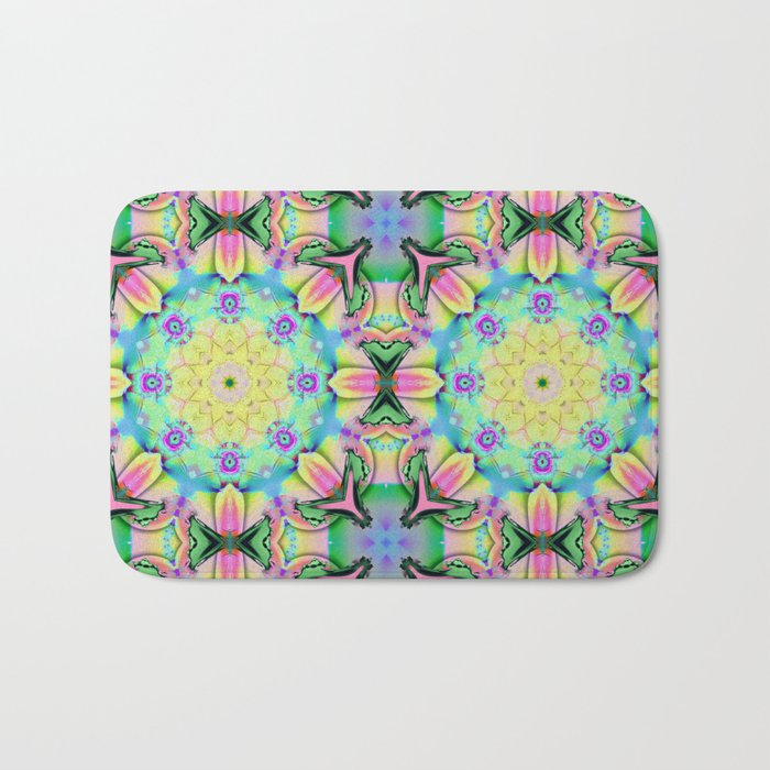 Summer feelings, colourful kaleidoscope design Bath Mat